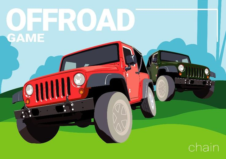 offroad, terrain, car, jeep, drive, ilustration,