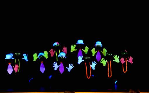 Hunches... I doubt we could do something like this... but it would be cool... love that the ties glow. =P