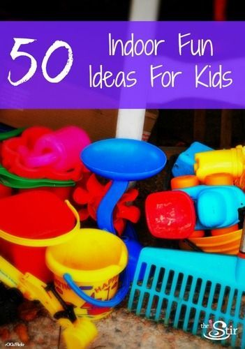 Who else is going insane?!! 50 Indoor Fun Ideas for Kids -- great tips for keeping them busy indoors when it's too cold to play outside! http://thestir.cafemom.com/big_kid/115685/50_ideas_for_indoor_fun?utm_medium=sm&utm_source=pinterest&utm_content=thestir
