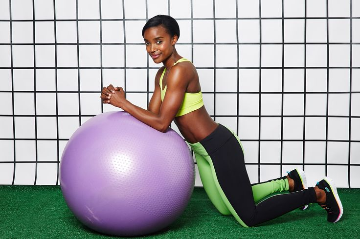 The MOST Effective Ab Workout, Period. #refinery29  The Move: Stability-Ball Rollout   Start with your elbows on the stability ball, leaning into a modified plank position with your knees on the ground. Keep your abs tight.