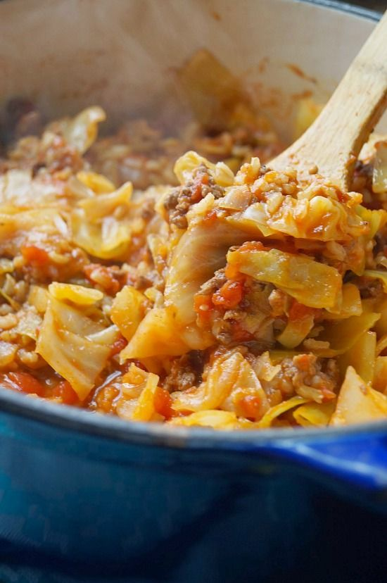 Unstuffed Cabbage Rolls - will use ground pork and white rice instead