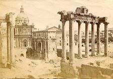 Albumen Photograph Italy Rome Forum Lot of 2 1870s
