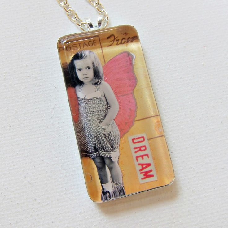 How to Make a Photo Glass Pendant with Faux Soldering - Morena's Corner