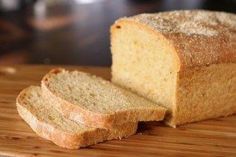 home baked white bread