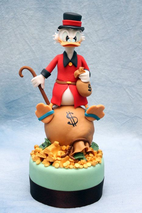 Uncle Scrooge MC Duck - by cesare @ CakesDecor.com - cake decorating website