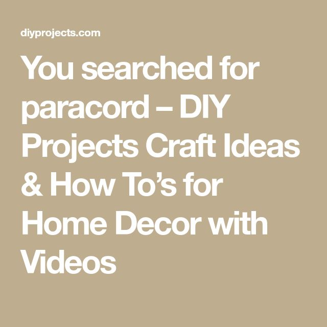 You searched for paracord – DIY Projects Craft Ideas & How To's for Home Decor with Videos