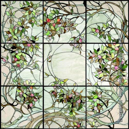 Витраж flora-038