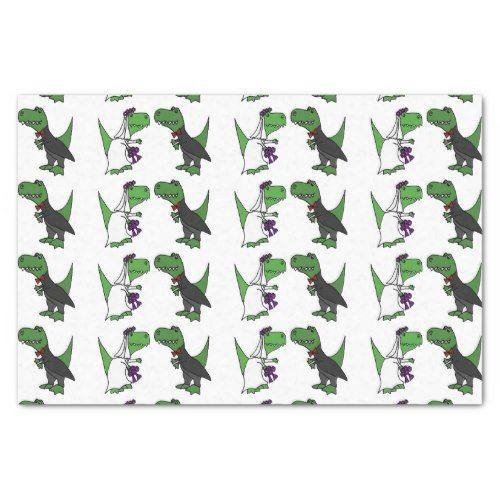 Funny T-rex Dinosaur Wedding Tissue Paper