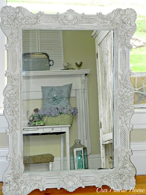 gold mirror redo - such a dramatic change, Love it!