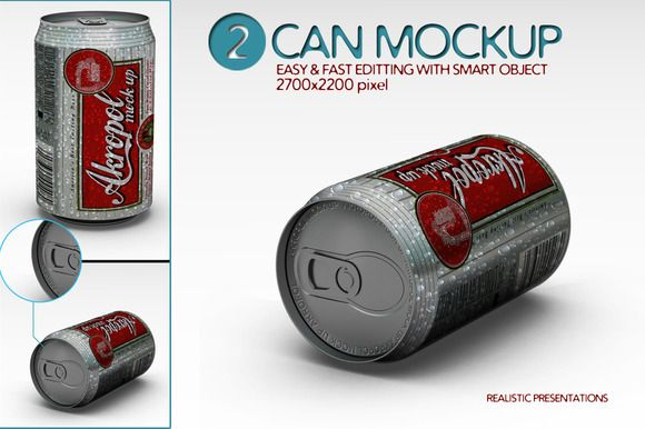 Check out Can Mock Up by akropol  on Creative Market