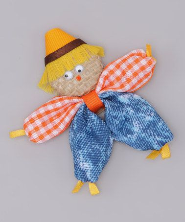 Take a look at this Orange Scarecrow Clip by Picture Perfect Hair Bows on #zulily today!