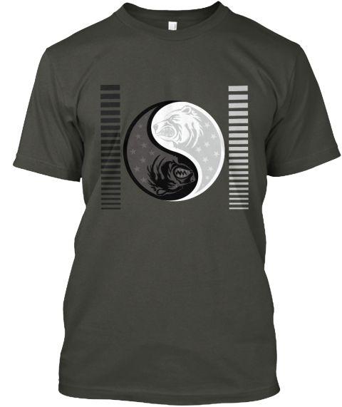 Bear Yin Yang Smoke Gray T-Shirt Front