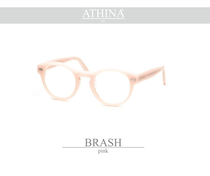 Mod. BRA1111V Made with light, ancient pink coloured acetate of cellulose.