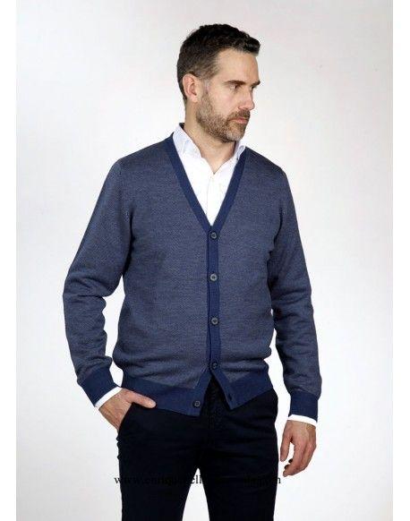 a1845462 Pertegaz chaqueta botones azul dibujo Pertegaz chaqueta de punto con  botones color azul con pequeño dibujo