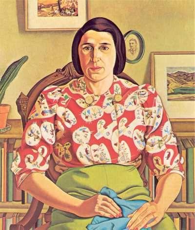 Rita Angus Portrait of Betty Curnow