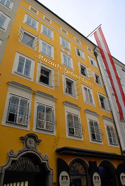 Salzburg Austria- the house Mozart grew up in. Avery small living apt. with his harpsichord.