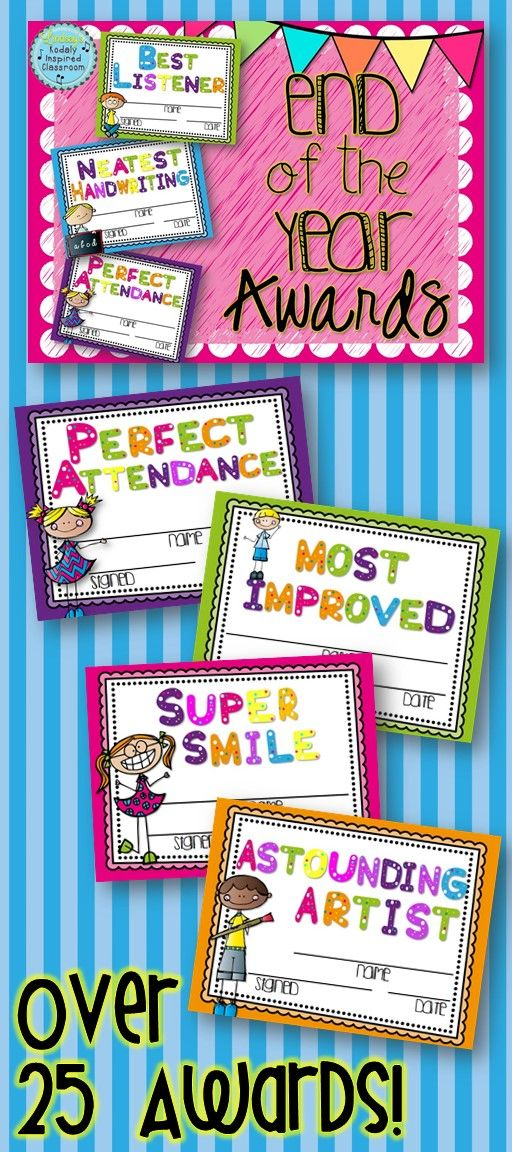 Classroom Award Ideas Elementary ~ Best images about end of school year on pinterest
