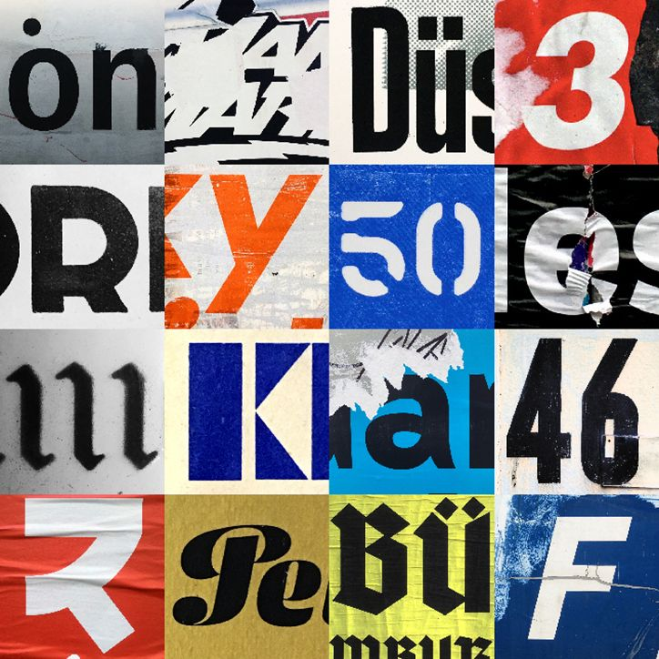 Patrick Thomas' Berlin collage type 06 found posters