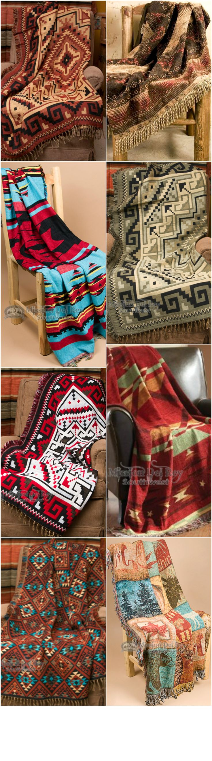 Use our southwestern throws this fall to create a cozy and inviting home.  See our entire collection of southwestern throws at http://www.missiondelrey.com/southwestern-throws/