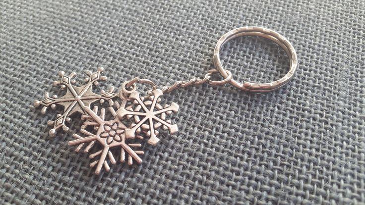 Triple Snow Flake Key Ring by HazelsHearts on Etsy
