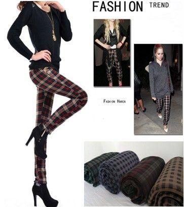 Новый теплые брюки Карла бархат утолщение Тонкий плед колготки Плюс бархатные леггинсы зимние леггинсы, принадлежащий категории Леггинсы и о...