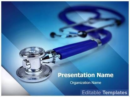 Medical Stethoscope PowerPoint design template. This #PowerPoint #theme can be associated with #Cardiologist #Cardiology #Diagnose #Disease #Health #Healthcare #Heartbeat #Stethoscope #Medicine #Pediatrician etc.