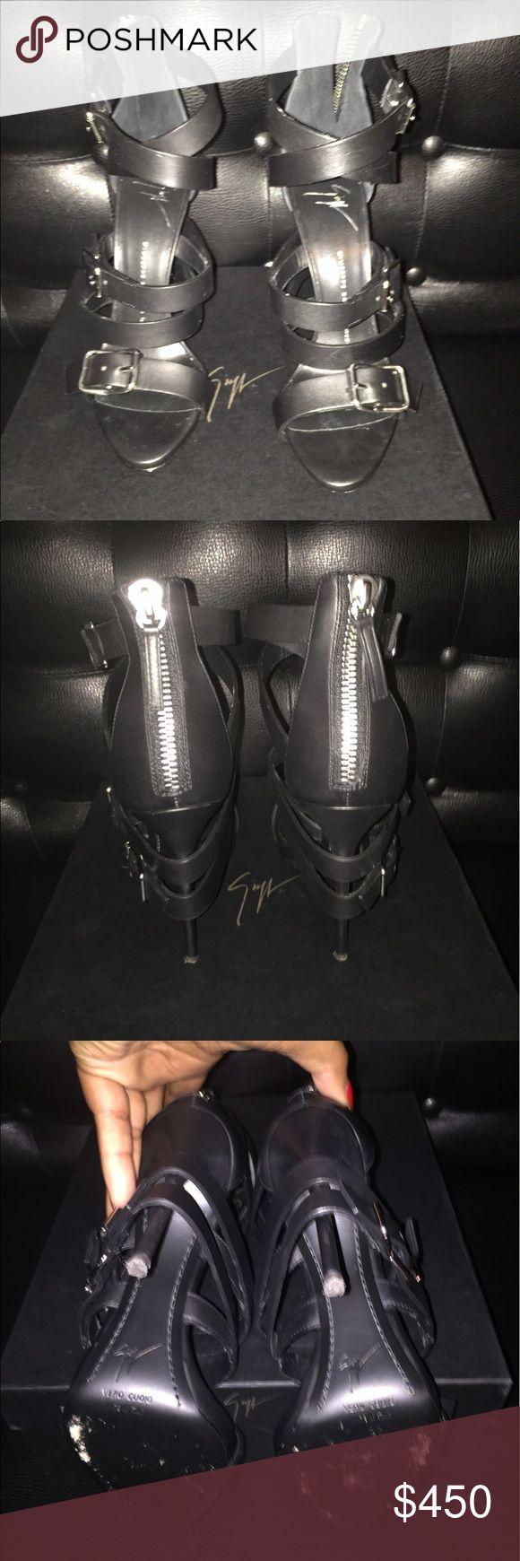 Guiseppe Zanotti Sandals Guiseppe Zanotti black belted sandals worn twice Giuseppe Zanotti Shoes Sandals