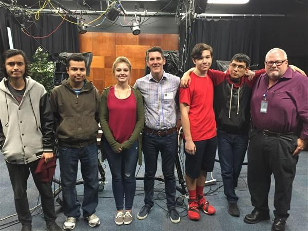 Photo Galleries / Jeff Jamison, Channel 11 News Meteorologist and WHHS Alum visits his Alma Mater