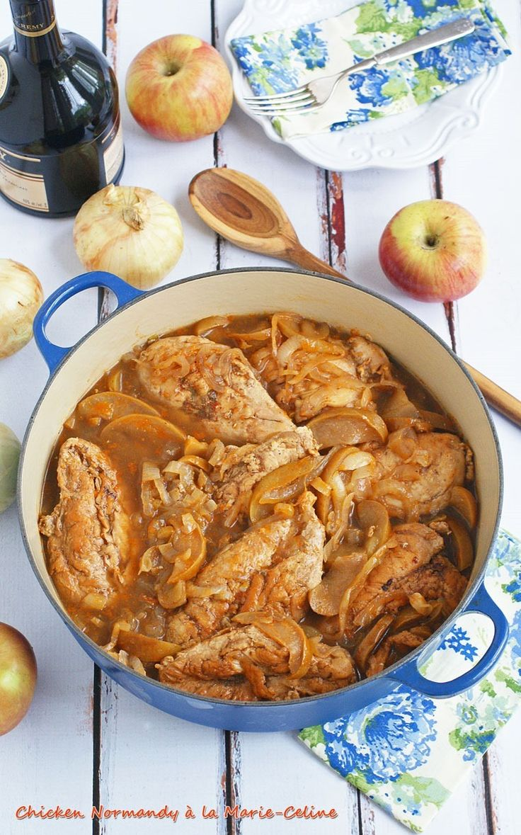 Chicken Normandy à la Marie-Celine. Get the recipe at This Mama Cooks! On a Diet (#ad #SCNRF #Pmedia) @natureraised