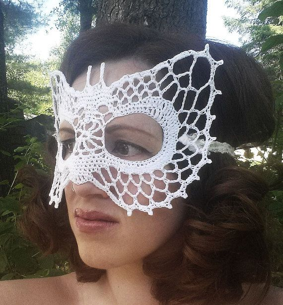"""Butterfly lace Masquerade Mask $4 for Costume Party, Ball, Prom, Dress Up. Fairy Themed """"In ancient Greek the word for butterfly is """"Psyche"""", which translated means """"soul"""". This was also the name for Eros' human lover and when the two figures are depicted they are often surrounded by butterflies."""" This is a crochet PATTERN in PDF format, this is an online transfer! You can simply download the pattern from Etsy upon payment!"""