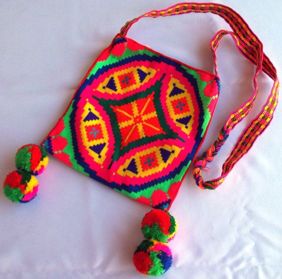 Huichol Hand Woven Peyote Yarn Morral Bag by Aramara on Etsy