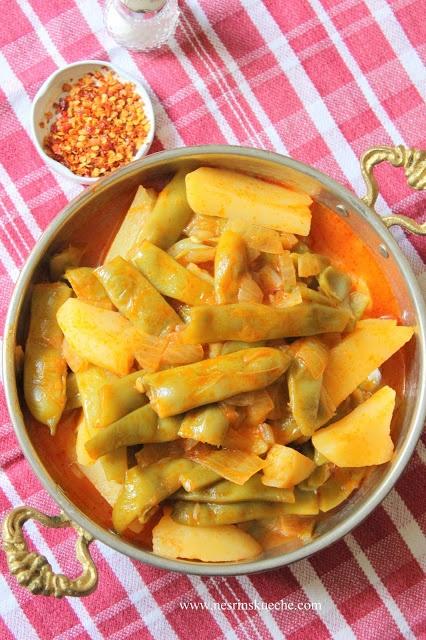 NESRiN`S KÜCHE: Patatesli Taze Fasulye Yemeği / Bohneneintopf mit Kartoffeln