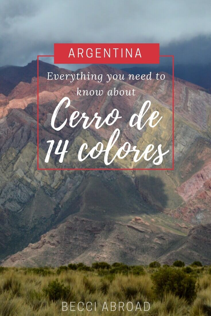 Visiting Cerro de 14 colores - all you need to know about visiting Argentina's multicolored mountains  #Argentina #CerrodeCatorceColores #Cerrode14colores #Jujuy #Humahuaca #Jujuy #SouthAmerica #LatinAmerica #mountain #explore #travelblog #travelblogger #travelblogging #adventure #hike