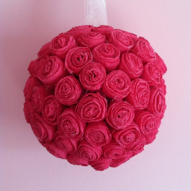 How to make crepe paper flower ball how to make crepe paper flowers how to make crepe paper flower balls images mightylinksfo
