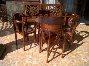 Kursi Teras Kafe Minimalis Anggur | Alfah Furniture