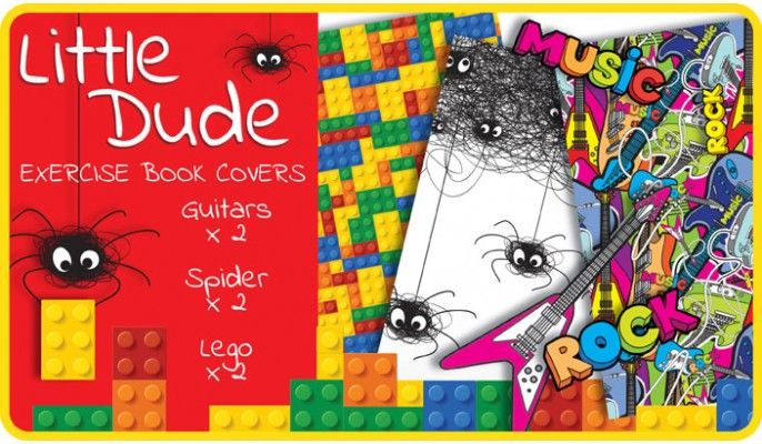 Little Dude School Exercise Book Covers (9x7) - 6 pack