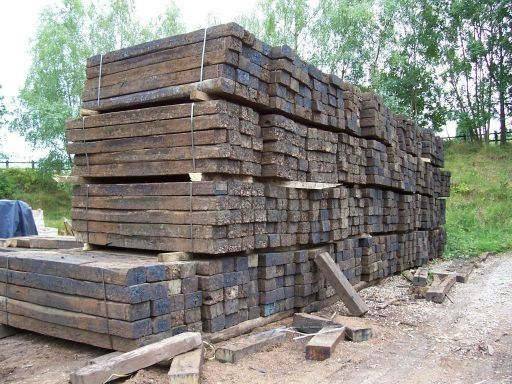 Reclaimed railway sleepers for sale on SalvoWEB from  Romsey Reclamation in Hampshire [Salvo code dealer