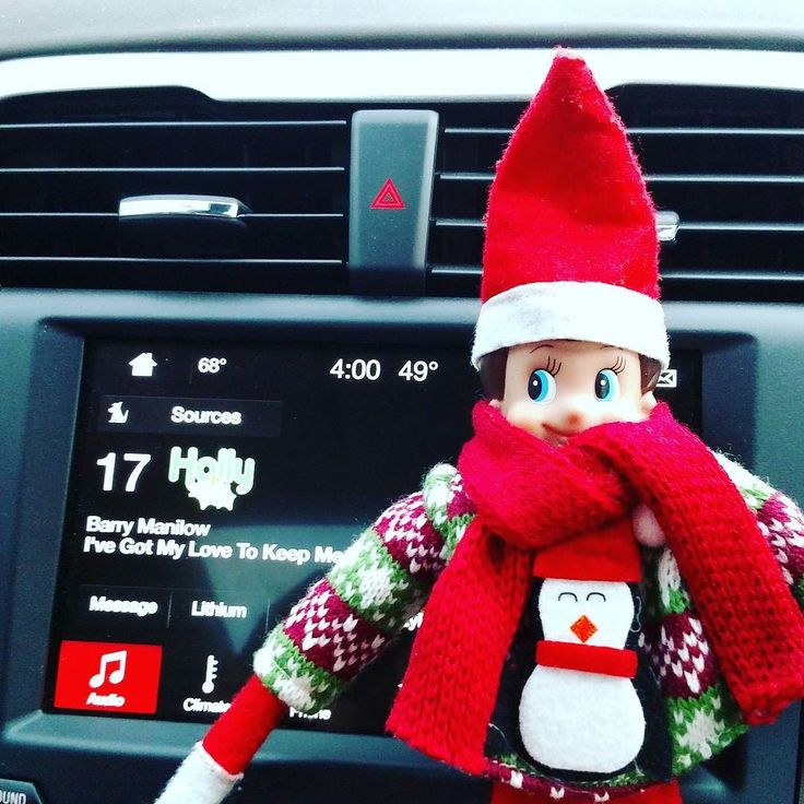 Little Snowy says it's time to turn the Holly Sirius Radio Channel on in our Ford Fusion Energi . The Ford Sync 3 System has voice commands and might just be able to get him in touch with Santa. () #DrivingonEnergi #PHEV #Iloveevs #FordSync #elfontheshelf #Elf #Snowy #cars #instagood #igdaily AD @drivingonenergi @ford