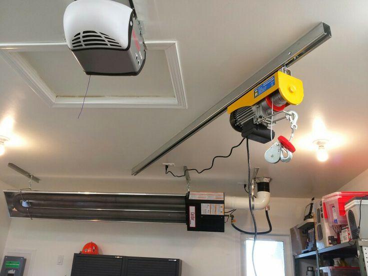 Small Overhead Crane On Track Radiant Heat And Door