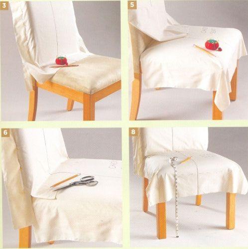 Как сшить...  23 мар 2013.  Шьем чехлы для стульев разной формы Старый стул…
