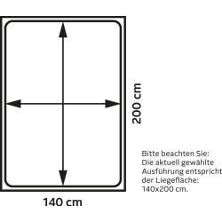 Polsterbett Susella, 180×200 cm, taupe MeiseMeise