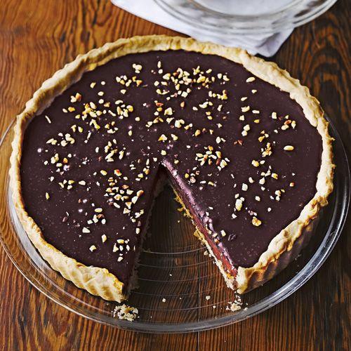 Chocolade-hazelnoot-taart