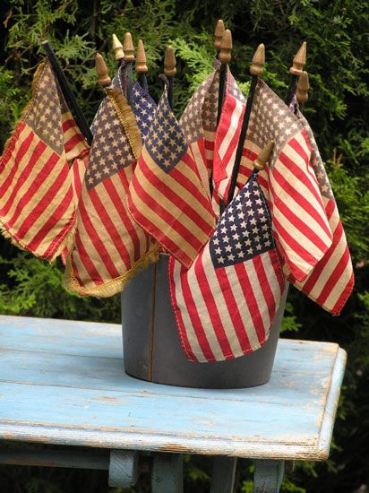 xx..tracy porter..poetic wanderlust- fourth of july-Old parade flags ~