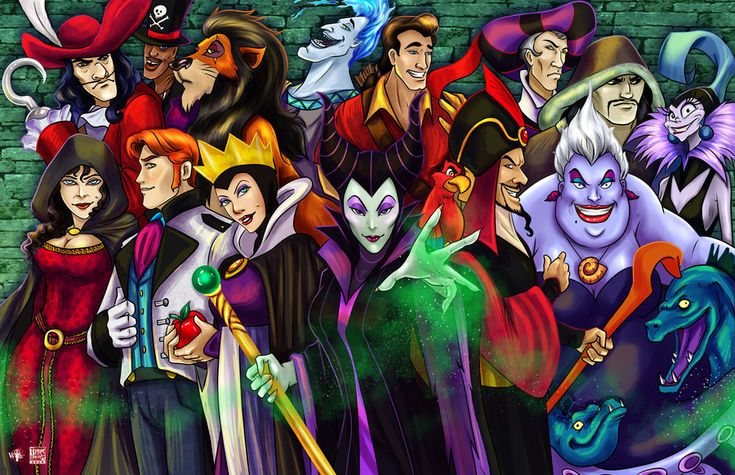Disney Villains Group by TyrineCarver on deviantART