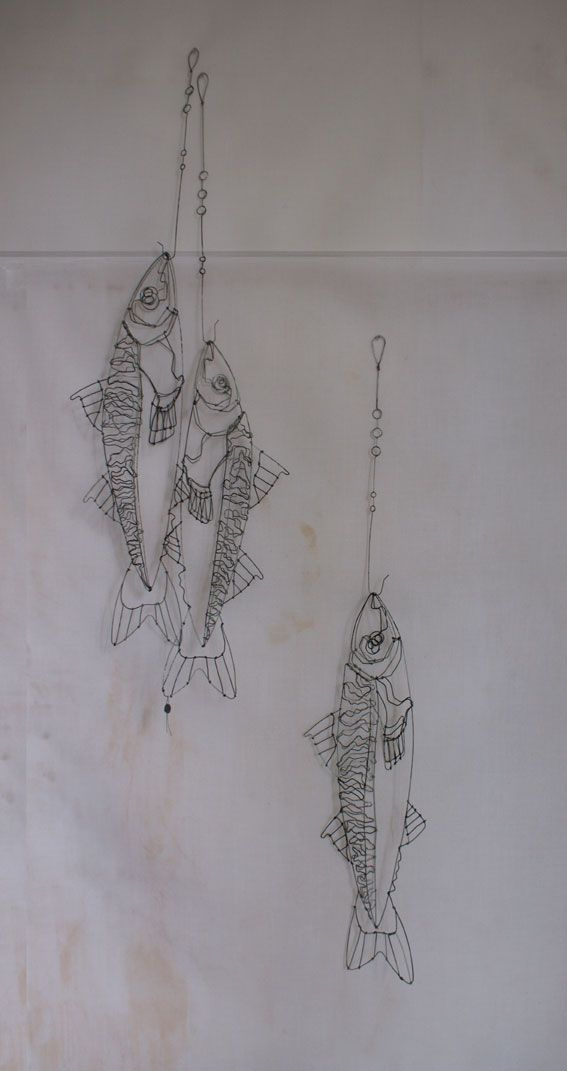 objets fils de fer sculptures et objets: poisson Énorme coup de coeur pour le travail de Catherine Gonthier!!