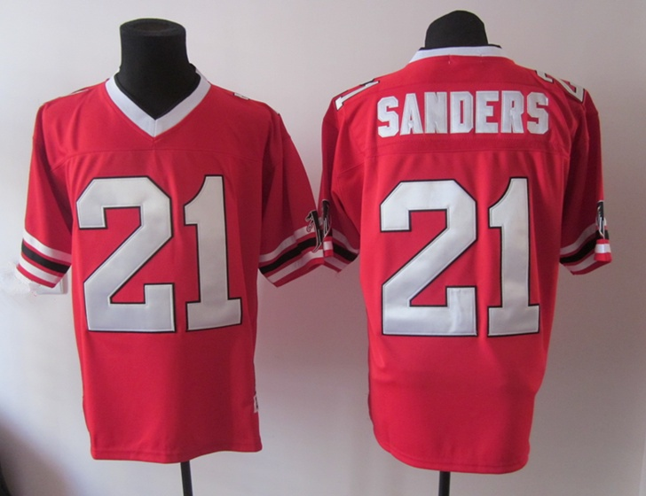 nfl indianapolis colts sanders 21 mens retro jerseys red