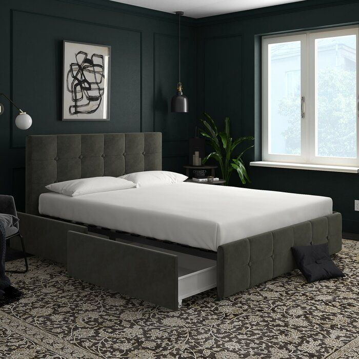 Houchins Upholstered Storage Platform Bed Upholstered Beds Bed Frame With Storage Upholstered Platform Bed