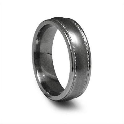 Zales Edward Mirell Mens 7.0mm Filigree Groove Edge Wedding Band in Black Titanium sdAL4PlRP