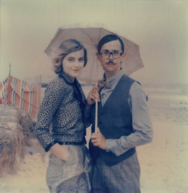 i'm gonna make my significant other pose with me for this picture. i love everything about it. umbrella.