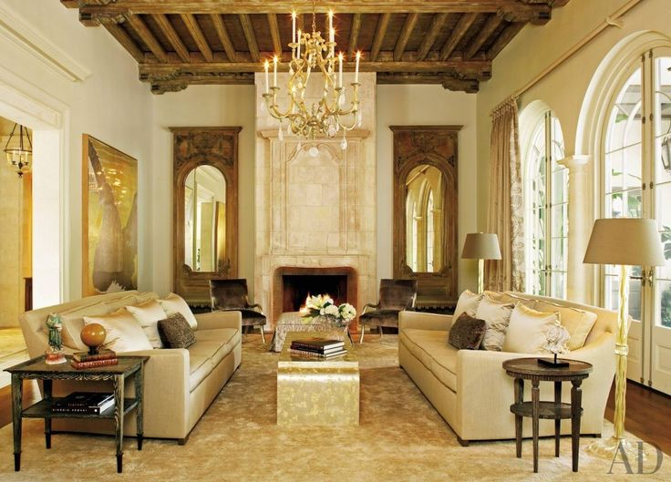 Architect Ken Tate Built This Sprawling Estate Near New Orleans Ceiling Beams Are Lovely Rustic Influence In Music Room Designer Ann Holden Is The